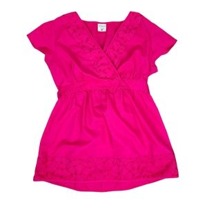 Motherhood Maternity Pink V-Neck Blouse Medium